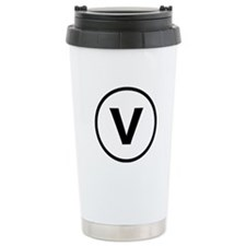 Circle V Stainless Steel Travel Mug