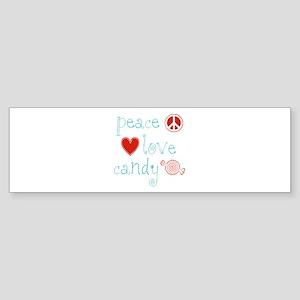 Peace, Love and Candy Sticker (Bumper)