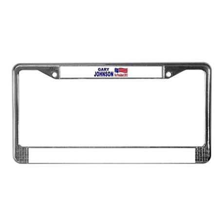 Gary Johnson for President License Plate Frame