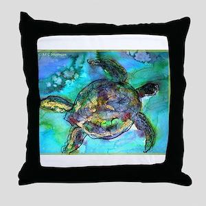 Sea Turtle, bright, Throw Pillow