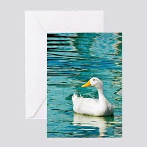 White Pekin Duck Photo Greeting Card