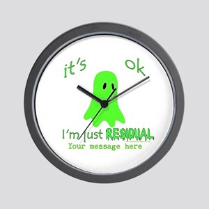 Customizable Just Residual Ghost Wall Clock