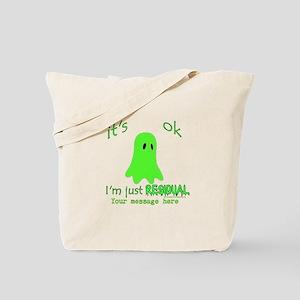 Customizable Just Residual Ghost Tote Bag