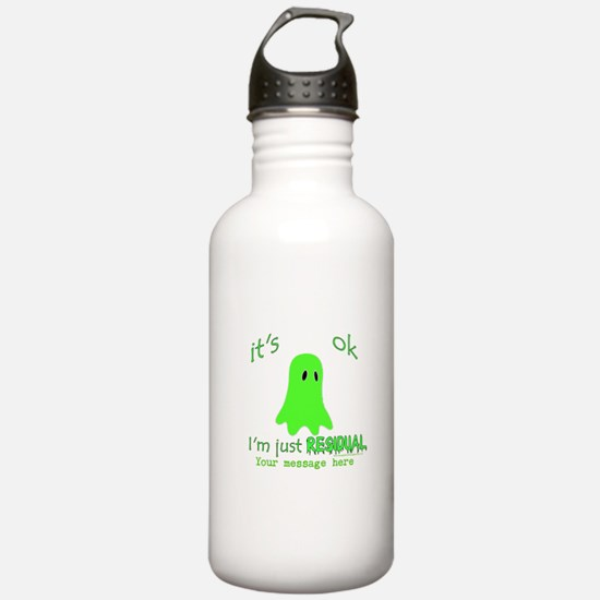 Customizable Just Residual Ghost Water Bottle