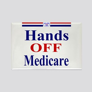 Hands OFF Medicare Rectangle Magnet