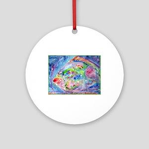 Fish, Colorful, Ornament (Round)