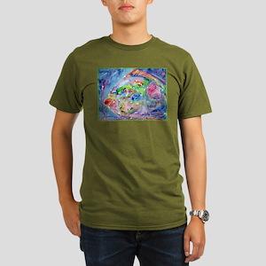 Fish, Colorful, Organic Men's T-Shirt (dark)