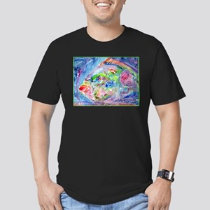 Fish, Colorful, Men's Fitted T-Shirt (dark)