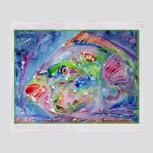 Fish, Colorful, Throw Blanket