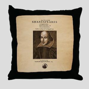 First Folio Throw Pillow