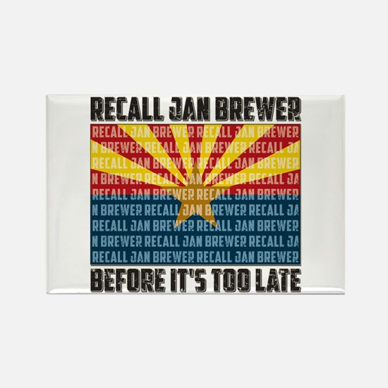 Recall Jan Brewer Rectangle Magnet