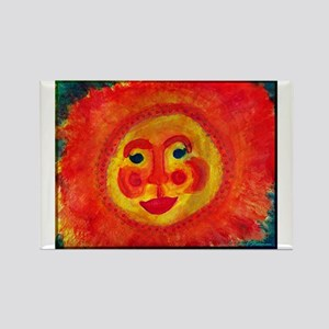 Sun Face Rectangle Magnet