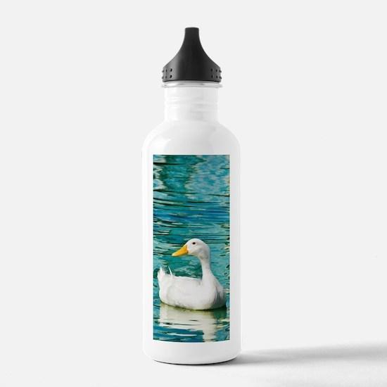 White Pekin Duck Photo Water Bottle