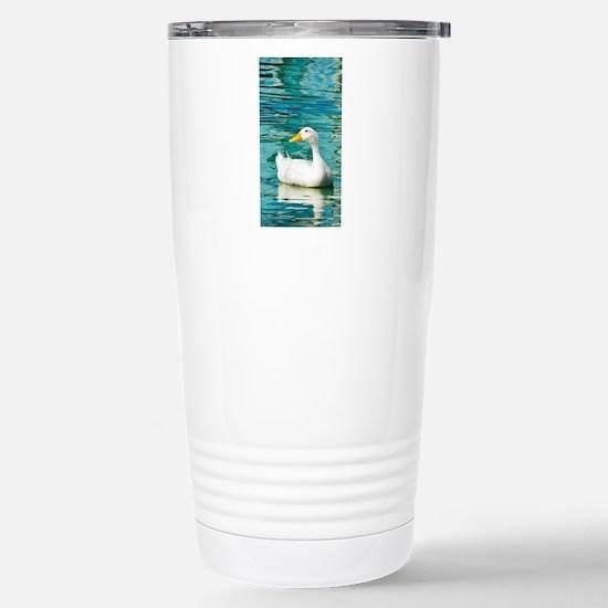 White Pekin Duck Photo Stainless Steel Travel Mug