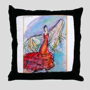 Falmenco dancer, bright Throw Pillow