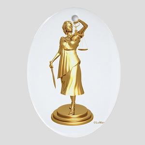 gildjustice Oval Ornament