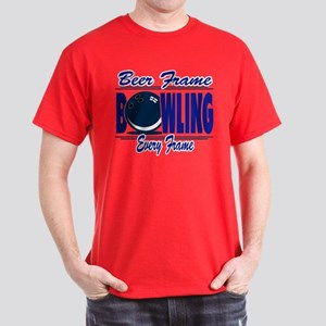 Bowling Beer Frame Every Frame Dark T-Shirt