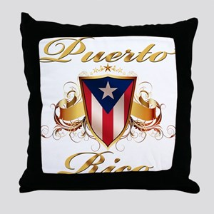Puerto rican pride Throw Pillow