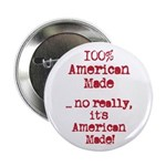 """100% American Made 2.25"""" Button (100 pack)"""