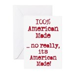 100% American Made Greeting Cards (Pk of 20)