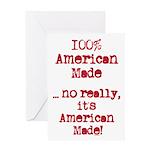 100% American Made Greeting Card