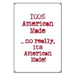 100% American Made Banner