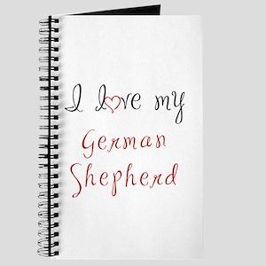 I Love My German Shepherd Journal