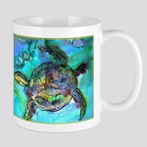 Sea Turtle, bright, Mug