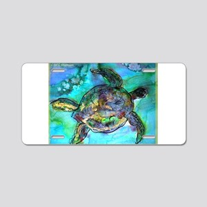 Sea Turtle, bright, Aluminum License Plate