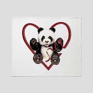 China Panda Love Throw Blanket