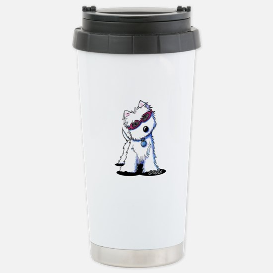 Doggles Westie Stainless Steel Travel Mug