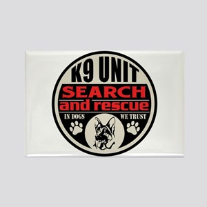 K9 Unit Search and Rescue Rectangle Magnet