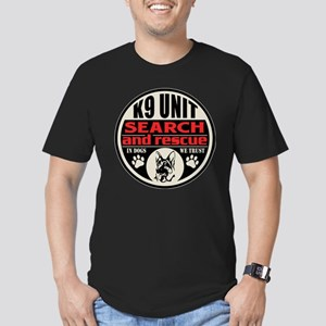 K9 Unit Search and Res Men's Fitted T-Shirt (dark)