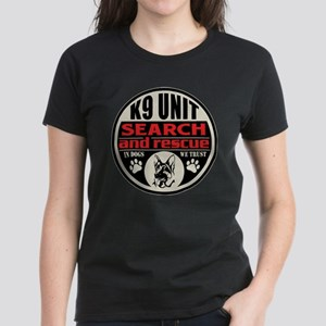 K9 Unit Search and Rescue Women's Dark T-Shirt