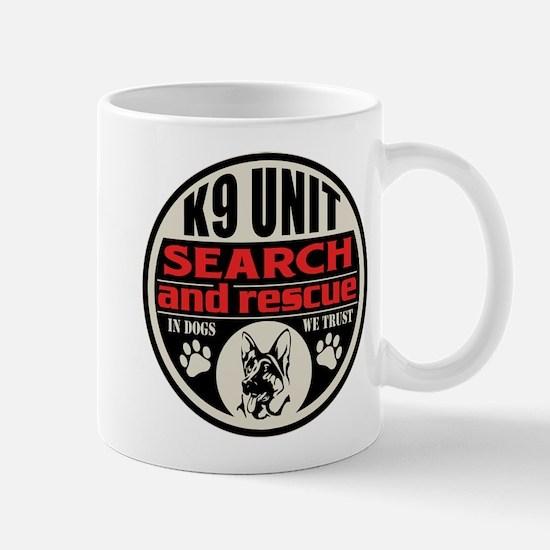 K9 Unit Search and Rescue Mug