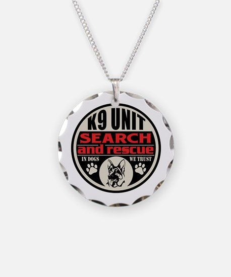 K9 Unit Search and Rescue Necklace