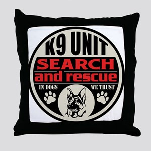 K9 Unit Search and Rescue Throw Pillow