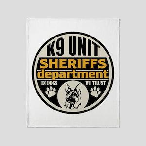 K9 In Dogs We Trust Sheriffs Departm Throw Blanket