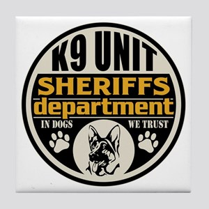 K9 In Dogs We Trust Sheriffs Departme Tile Coaster