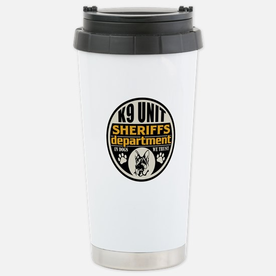 K9 In Dogs We Trust She Stainless Steel Travel Mug