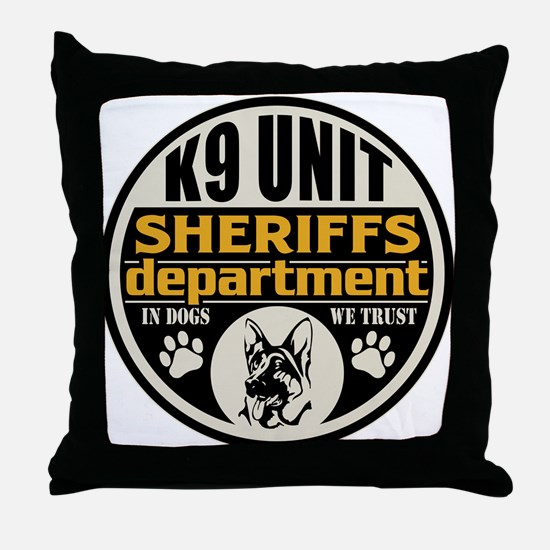 K9 In Dogs We Trust Sheriffs Departme Throw Pillow