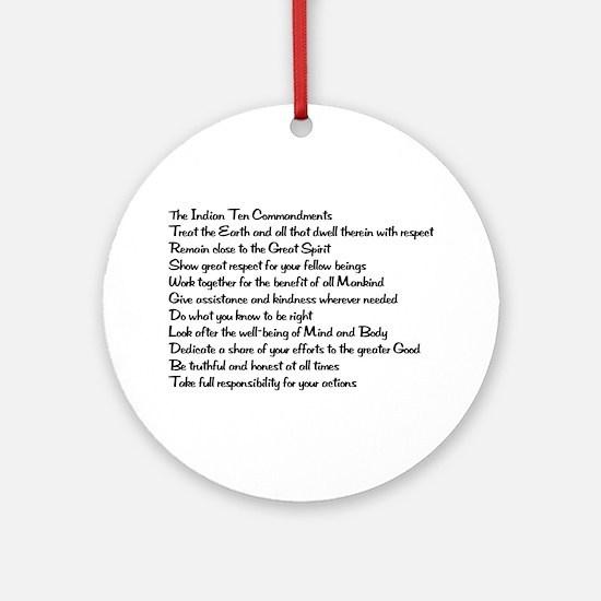 10 Commandments Ornament (Round)