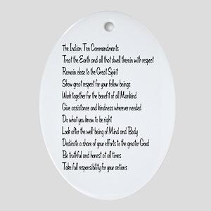 10 Commandments Ornament (Oval)