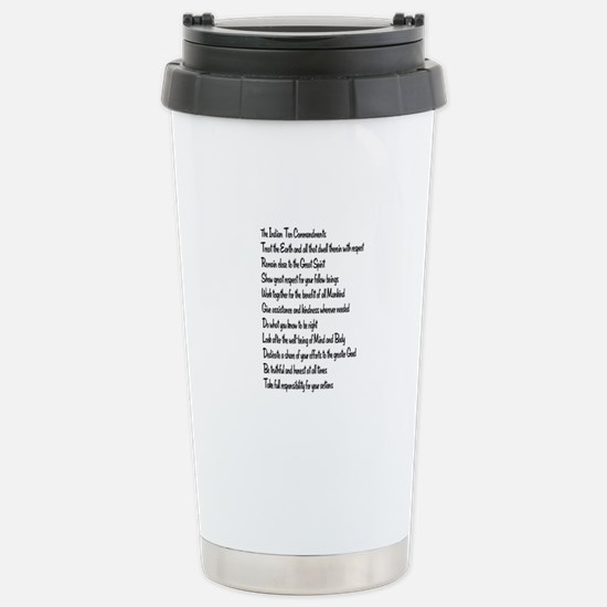 10 Commandments Stainless Steel Travel Mug