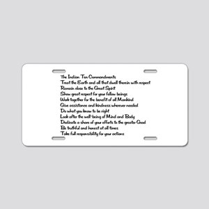10 Commandments Aluminum License Plate