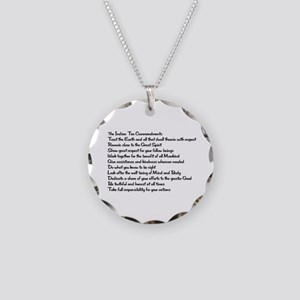 10 Commandments Necklace Circle Charm