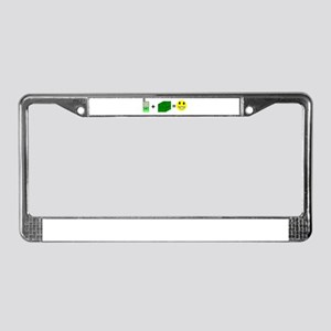 Happy Caching License Plate Frame