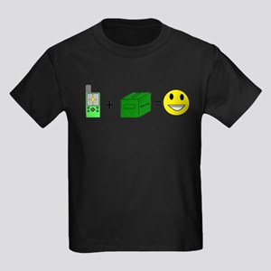 Happy Caching Kids Dark T-Shirt