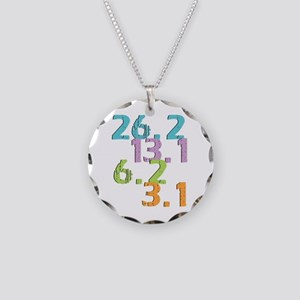 runner distances Necklace Circle Charm