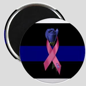 Blue Line Rose Magnet